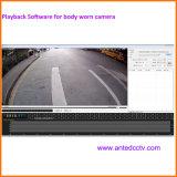 La meilleure caméra vidéo portable de policier de HD 1080P facultative avec le WiFi de 3G 4G GPS
