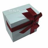 Caja de embalaje de la cartulina Jy-Jb22 del papel del regalo de la joyería de la visualización blanca del almacenaje