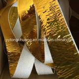 Лента обруча выбрасываемого тепл стеклоткани изоляции Отражать--Золота