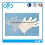 Ясные перчатки полиэтилена для супермаркета