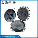 Gris d'OEM/grand dos fer Qt500-7 de Dutile/couvertures de trou d'homme rondes des couvertures de trou d'homme de fer de moulage