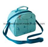 o poliéster 600d Zippered sacos personalizados saco isolados do almoço do refrigerador do almoço do almoço com fechamento do Zipper