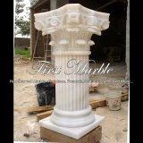 Witte Marmeren Kolom voor Decoratie mcol-308 van het Huis