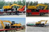 Berufshersteller-Rad-hydraulischer Exkavator mit der mittleren Wannen-Kapazität