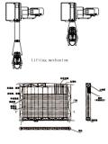 Capannone portatile dell'aeroplano del blocco per grafici d'acciaio con il portello di sollevamento flessibile