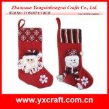 Promoción de la Navidad del regalo del calcetín de la Navidad de la decoración de la Navidad (ZY14Y40-1-2-3)