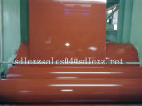 Matériau de construction de produits en acier enduit d'une première couche de peinture couvrir la feuille
