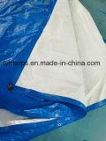Feuille bleue/blanche de finition de bâche de protection de PE, bâche de protection de polyéthylène