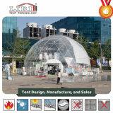 шатер геодезический купола 14m большой прозрачный для выставки случая