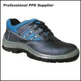 Обувь безопасности неподдельной кожи низкой черноты отрезока стальная