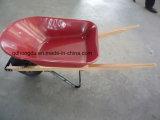 Wheelbarrow de madeira Wh5400 do punho para a construção