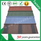 Le zinc en aluminium supérieur a ridé le type de secousse enduit par pierre de tuile de toit de feuilles de toiture de plaque