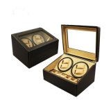 Alta Qualidade Auto Silencioso (4 + 6) PU Leather Watch Winder