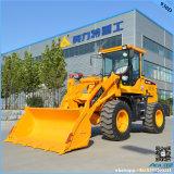 Gebruikte Prijzen van de Tractor van de Tuin van de Lader 1.5ton van het Wiel van het landbouwbedrijf de Kleine Loder