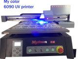 Preiswerter kleiner UVflachbettdrucker des Format-A1 Digital (12cm Höhe justierbar, cmyk+w, 1440dpi, 60cmx90cm)
