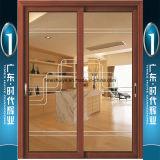 Дверь алюминия фабрики Foshan предлагая вися с двойной застеклять