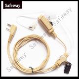Écouteur acoustique de tube de talkie-walkie beige de couleur pour Wouxun