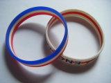 De Plastic Promotie 3D Armband van uitstekende kwaliteit van de Manier van het Silicium van de Gift (psb-008)