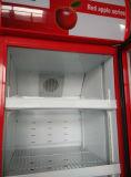 Ventilateur vertical refroidissant l'un étalage de frigorification optionnel de trappe en verre (DBQ-318L)
