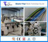 Chaîne de production de tuyau de matériaux en plastique de PVC/machine de tissu-renforcé d'extrusion