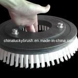 白いナイロン物質的な円形の道掃除人のブラシ(YY-128)