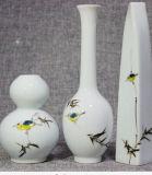Regalos de cerámica chinos del equipamiento casero de los floreros de la porcelana del florero tablero decorativo pintado a mano de la manera