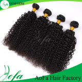 Cabelo humano Curly Kinky do Indian do volume do cabelo do Virgin do Afro