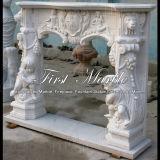 Camino bianco della scultura di Carrara per la decorazione domestica Mfp-234