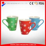 Tasse de café en céramique carrelée en couleur de 9-11 oz de taille différente