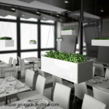 Uispair die de Vierkante Planter van de Tuin van het Staal voor de Moderne Decoratie van de Tuin van het Bureau hangen
