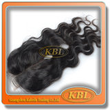 La onda profunda 2.5 * 4 brasileños Qingdao pelucas de pelo para los hombres Negro