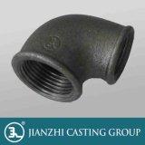 Mit einem Band versehene Galvanized&Black formbares Eisen-verlegte Rohrfittings der Krümmer 90r, verringernd