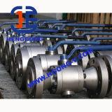Robinet à tournant sphérique en acier modifié à haute pression de bride d'API/DIN/JIS 3PC