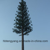 Tour de télécommunication d'arbre déguisée par tube en acier