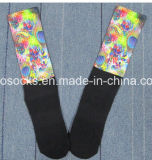 Uomini Sublimation Basketball Socks con Printing Design