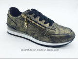 Zapatos atléticos de la PU de las mujeres de la manera con la cremallera (ET-MTY160334W)