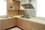 Gabinete de cozinha UV lustroso elevado da laca (ZX-015)