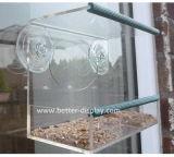 Großhandelsfenster-Vogel-Zufuhr-Haus mit dem Schieben des Zufuhr-Tellersegmentes und der industriellen Stärken-Absaugung-Cup/der Plastikvogel-Zufuhr