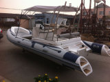 Caoutchouc de Liya 20ft pêchant le bateau gonflable rigide de côte de la Chine