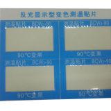 Collants thermochromiques auto-adhésifs comme détecteur de température élevée