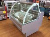 Congelador del helado/caso de visualización de Gelato