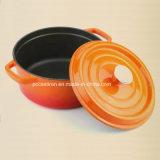 Размер 2.8L формы Cookware чугуна эмали овальный