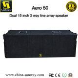 Línea al aire libre sistema de sonido del funcionamiento del locutor ruidoso de Aero50 3way del arsenal