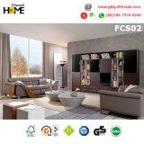 Sofá de couro secional da sala de visitas moderna (FCS01)