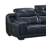 Шикарный офис/софа домашней черноты мебели реальная кожаный угловойая