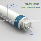30W 내부 운전사 150lm/W T5 LED 관 빛