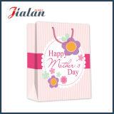 Bolso de compras de papel impreso OEM de encargo de la insignia del diseño del día de fiesta del girasol