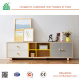ヨーロッパ式TVの立場木製媒体表、ドアが付いている居間TVの立場のもみ木、TVの立場木
