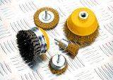 """щетка колеса стального провода 4 """" вспомогательных оборудований електричюеских инструментов (100mm) круговая с хвостовиком"""