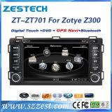 """7 """" GPSの航法システムとのZotye Z300のためのタッチ画面車DVD"""